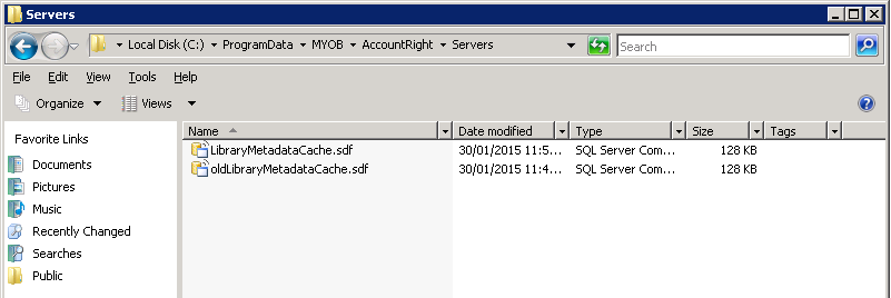 how to read a myob database