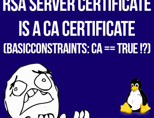 "How to fix ""RSA server certificate is a CA certificate (BasicConstraints: CA == TRUE !?)"" error"