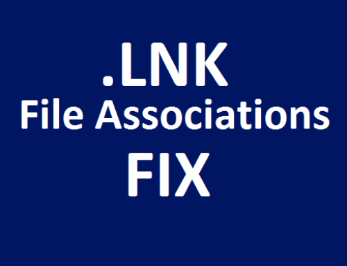 Shortcut .LNK File associations changed or broken FIX