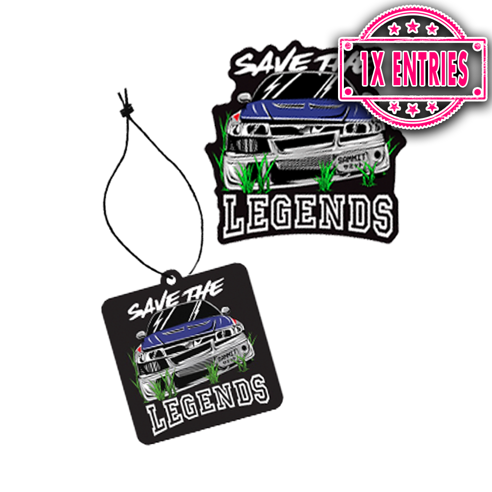 SAVE THE LEGENDS AIR FRESHENER & STICKER PACK